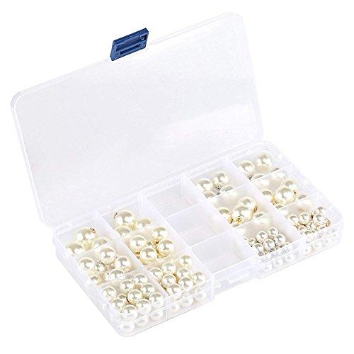 Earring Backs,Earring backings Naler Earring Backs Faux Pearl Plastic Secure Earring Backs for Safety, 120 ()