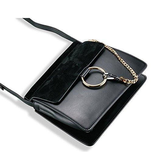 A Moda Trend Marrone Classiche E Tracolla Americana Borse Marrone Della Bag Selvaggio Europea Messenger colore dawRxq8Y