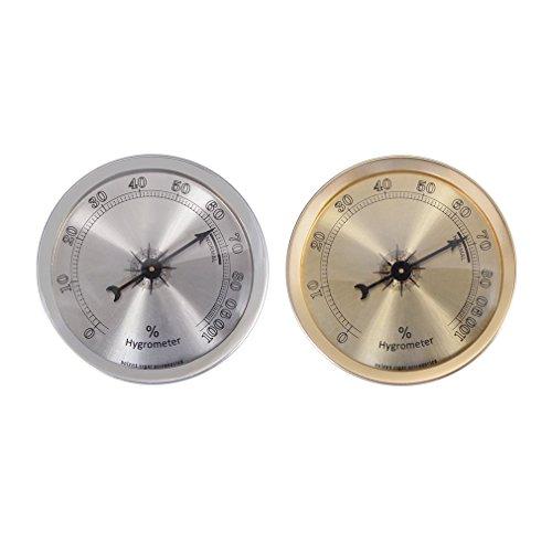 Analog Hygrometer Humidity Gauge for Cigar humidor (Gold)
