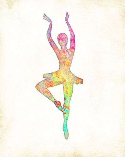 Ballerina Dancer Watercolor Art Print By Dan Morris (Ballerina Signed)
