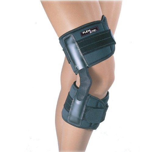 Fla 37-108LGBLK Flexlite Hinged Knee Brace, Black, Large