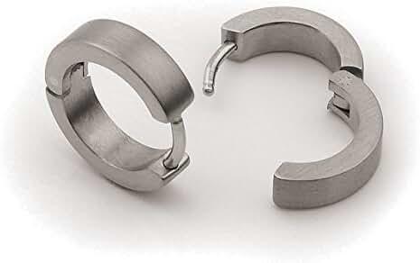 0510-01 Boccia Titanium Small Folding Hoop Earrings