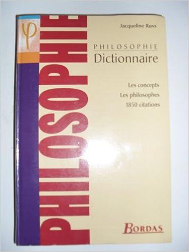 RUSS/DICT.DE PHILOSOPHIE NP    (Ancienne Edition) pdf
