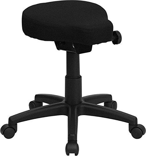 - Boswell Black Saddle-Seat Utility Multipurpose Stool w/Height & Angle Adjustment