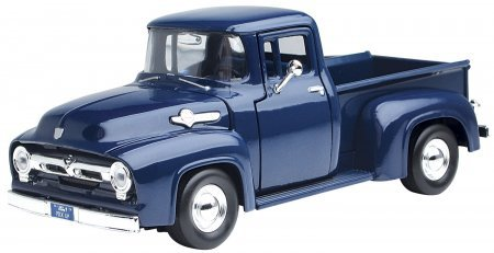 1956 Ford F-100 Pickup Blue 1/24 (1956 Ford Truck)