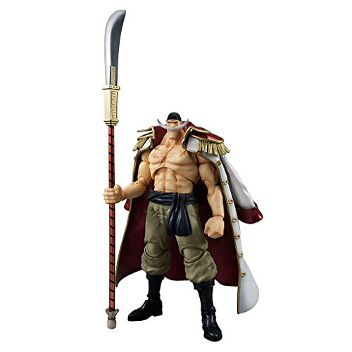 Siyushop One Piece: Edward Newgate White Beard Variable Action Hero Figure - High 9.8 Inches (Variable Action Heroes Roronoa Zoro Action Figure)