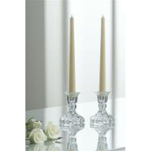 Pottery Candlestick (Belleek Pottery 57405 Ashford Candlestick Pair, 3.9-Inch, Clear, Set of 2)