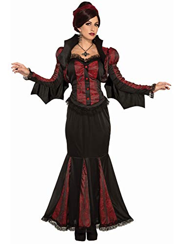 Forum Women's Lady of Darkness Costume, Black/Red, Standard]()