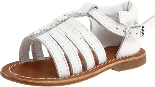 Aster Sandals Leather - Aster Valencia Sandal (Toddler),White Leather,22 (6 M US) Toddler