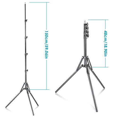 neewer 59 quot 150cm aluminum alloy photography light stand