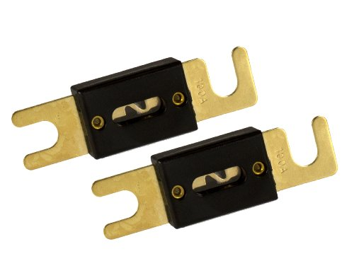 Absolute ANL100-2, 2 Pack ANL Fuses 100 Amp Gold Plated