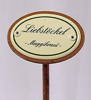Kräuterschild Kräuterstecker Emaille Melisse Erdspieß 50 cm