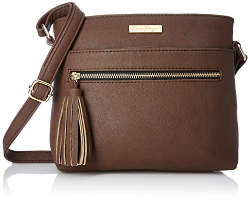 Lica Pezo Front Zip Women Sling Bag (Brown) (Spacious Front Pocket)