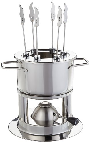Schulte-Ufer Fondue Flamenco Hot, Infinitely Adjustable, Stainless Steel 18/10, 16 cm, 2 L, 69089-16 Hot by Schulte-Ufer