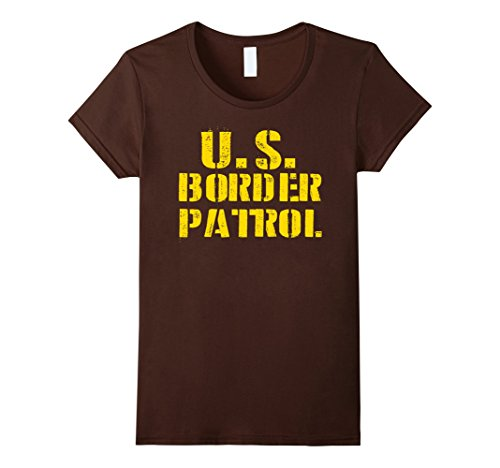 Womens Border Patrol Shirt Easy Lazy Halloween Costume Tshirt XL Brown (Halloween Costumes Offensive)