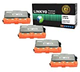 LINKYO® Compatible 4 Pack Brother TN750 Black Toner Cartridge for Brother DCP8150DN, HL5470DWT,HL6180DWT, MFC8910DW, Office Central