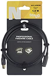 Stagg NCC1,5FW8FW6 12-Inch Professional FireWire Cable