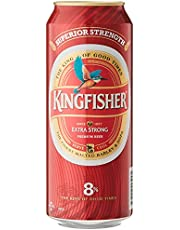 Kingfisher Premium Extra Strong Lager Beer Can, 24 x 490ml