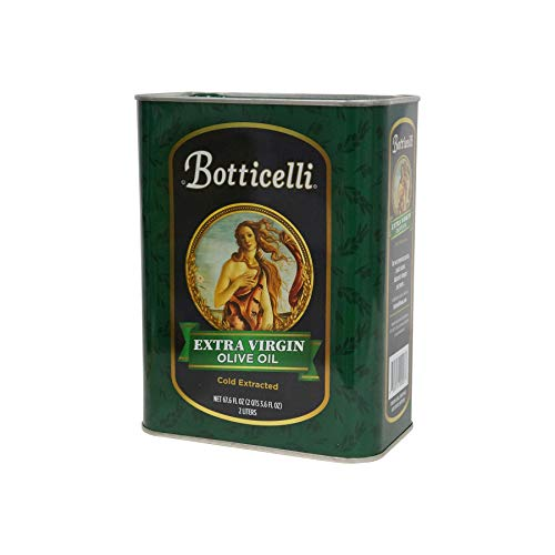 Botticelli Extra Virgin Olive Oil. From Cold Pressed Olives. Full Flavor and Rich Aroma, Great for Cooking, Sautéing, as a Salad Dressing and Topping (67.6oz/2 liters)