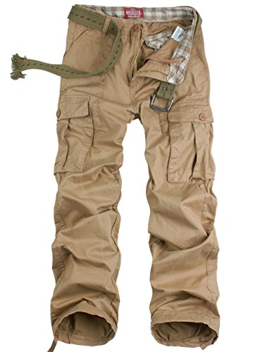 Match Mens Retro Military Cargo Pants #6523(US 28 (Tag size S/29),6523 Mud)