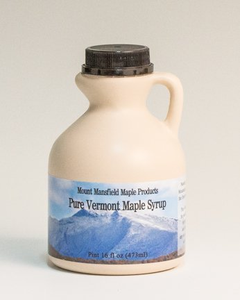 Pint Maple Syrup Jug - Mansfield Maple Pure Vermont Maple Syrup in Plastic Jug Golden Delicate (Vermont Fancy), Pint