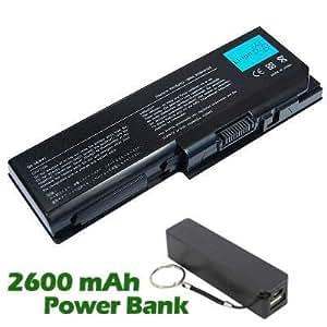 Battpit Bateria de repuesto para portátiles Toshiba Satellite Pro P300-18Q (4400 mah) con 2600mAh Banco de energía / batería externa (negro) para Smartphone