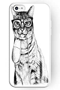 SPRAWL Love For Cat Series Hard Skin Case Cover Shell for Mobile Phone Apple Iphone 5C -- I got a Mouse