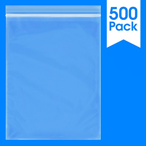 (500 Count - 9 X 12, 2 Mil Clear Plastic Reclosable Zip Poly Bags with Resealable Lock Seal Zipper by Spartan Industrial (More Sizes Available))