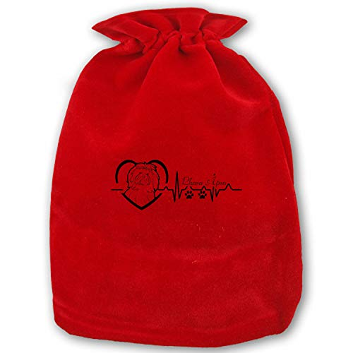 - Large Christmas Candy Bags Gift Treat Bags for Favors and Decorations Lhasa Apso Heartbeat
