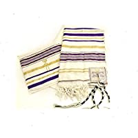 "New Covenant Messianic Tallit Prayer Shawl 72 ""22"" por Bethlehem Gifts TM (Púrpura)"