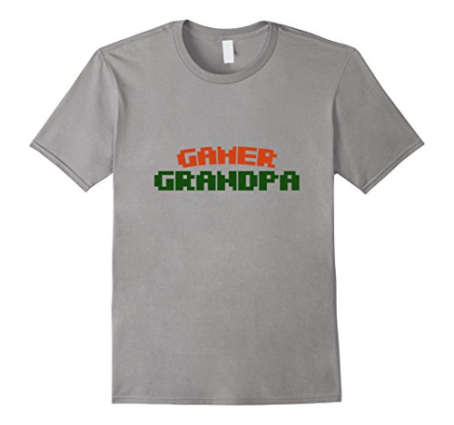 Mens Gamer grandpa t-shirt retro 80s