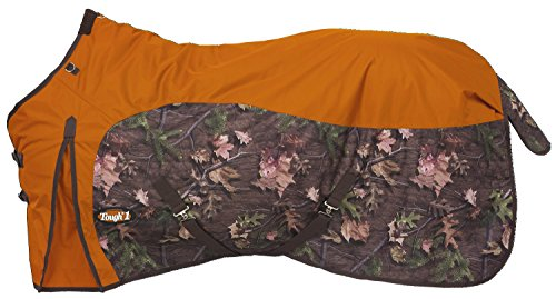 Tough 1 Timber 600D Waterproof Poly Turnout Blanket, Orange, 78'' by Tough 1