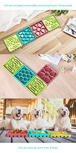 HEFEIYU Dog Lick Mat for Dogs with a Silicone Spreader, Hyper Pet IQ Treat Mat& Fun Alternative to Slow Feeder Dog Bowls Snuffle Mat for Dogs, Dog Puzzle Toys, Calming Mat for Pet Bathing,Training