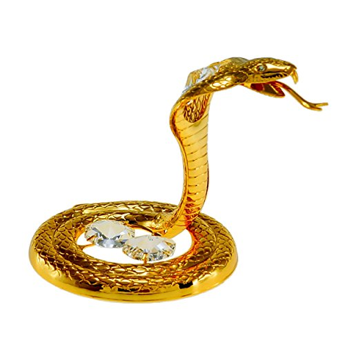 Cobra Snake 24k Gold Plated Metal Tabletop Figurine with ...