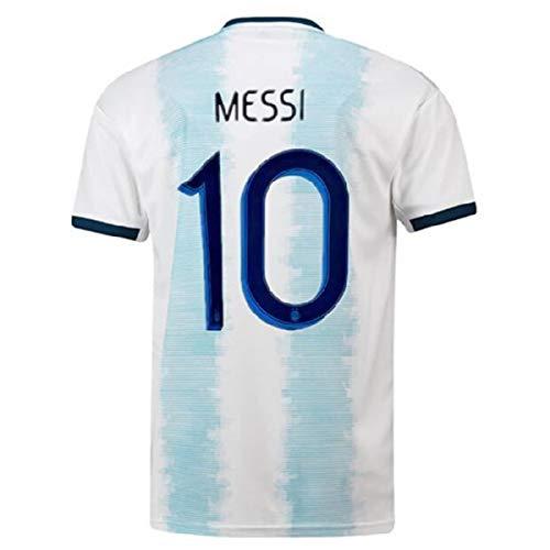 (Feng 2019-2020 Argentina National Messi 10 Home Men's Soccer Jersey Color Blue/White (M))