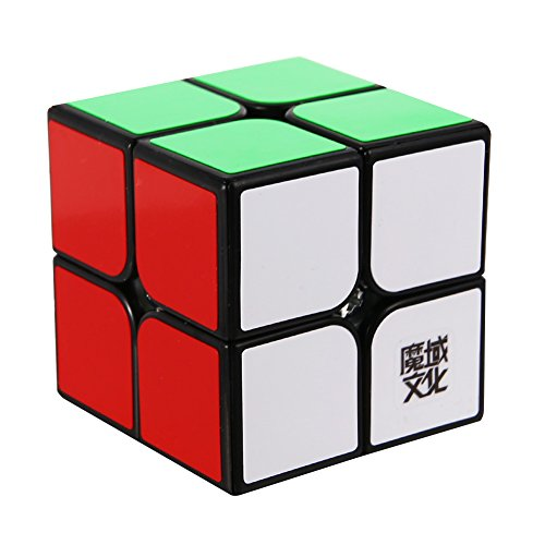 MoYu MOLPB YJ Lingpo 2 X 2 Speed Cube Puzzle Smooth Black Puzzle