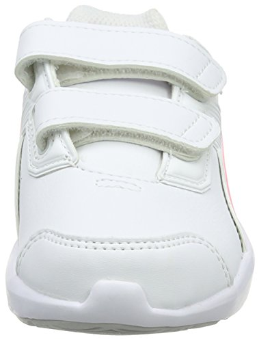Puma escaper SL V PS, Zapatillas de Running Unisex Niños Blanco (Puma White-soft Fluo Peach-puma White)