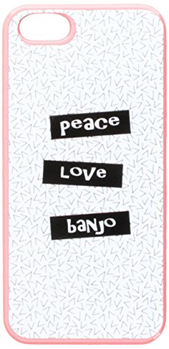 Graphics and More Peace Love Banjo Snap-On Hard Protective Case for iPhone 5/5s - Non-Retail Packaging - Pink