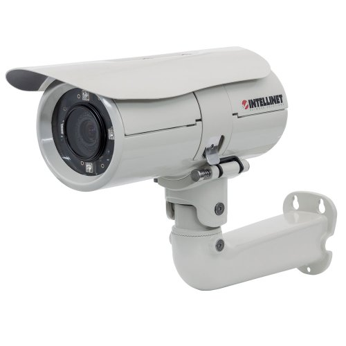 Outdoor Mpeg4 Network Camera - Intellinet 551069 Outdoor Night-Vision 2.0 Megapixel HD Network Bullet Camera with 1-Inch LCD (White)