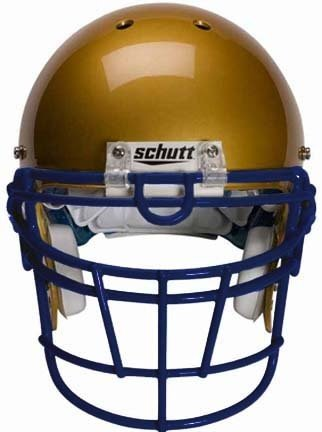 Schutt Navy Reinforced Jaw and Oral Protection (RJOP-UB-DW) Full Cage Football Helmet Face Guard from