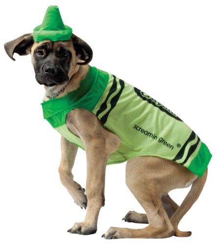 Rasta Imposta Crayola Screamin' Green Crayon Dog Pet Halloween Costume Large