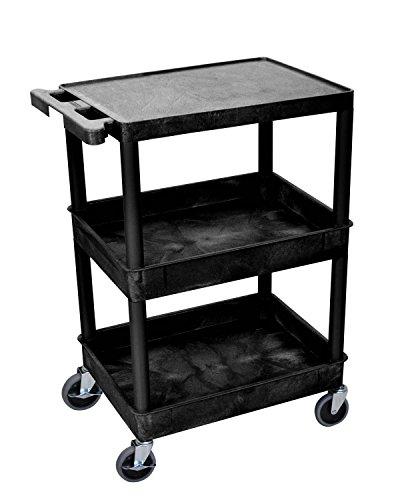 Luxor (STC211-B) Tub Cart - Cart Utility Tub Bottom Shelf