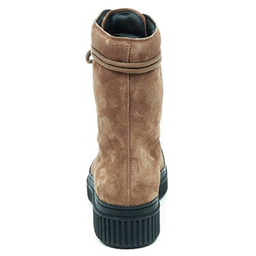 Woman Shoe Dark E5194 Scuro Tronchetto Tod's Boot Scarpe Beige Anfibio Donna 7pqwnzR