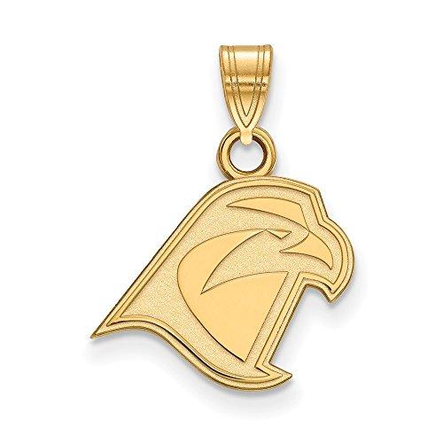 14k Yellow Gold Bowling Green State University Falcons Mascot Head Pendant S - (13 mm x 14 mm) -
