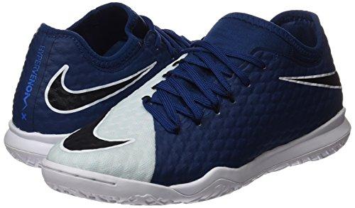 Nike HypervenomX Finale II IC Fußballschuhe Hallenschuhe Hartplatzschuhe für Herren Grau (Photo Blue/black/blue Tint/white/white)