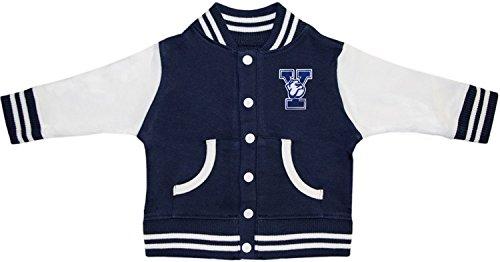 (Creative Knitwear Yale University Bulldogs Varsity Jacket Navy)