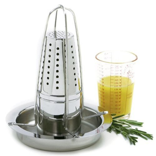 "8.5"" x 5.5"", Cone Shaped Stainless Roaster with Infuser"