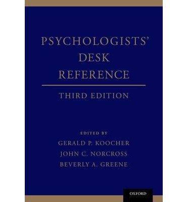 Psychologists' Desk Reference(Hardback) - 2013 Edition