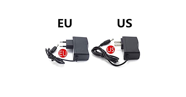 EU//US Plug AC 100-240V to DC 12V 9V 6V 5V 1A 2A Power Supply Converter LED Light