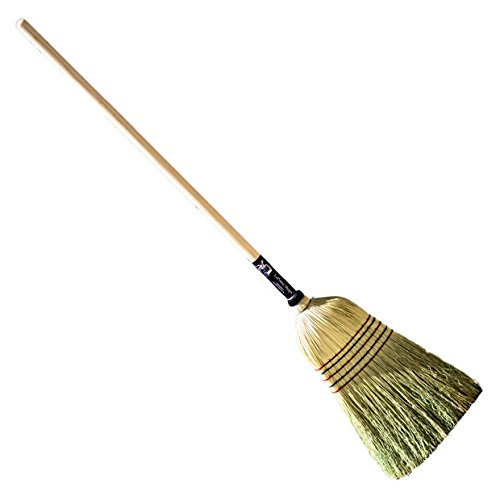 LaPrima Shops Authentic Hand Made All Broomcorn Broom (Large 18.5-Inch Head) (Warehouse Corn Broom)